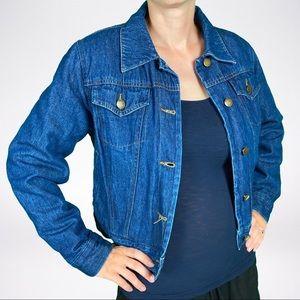 Isaac Mizrahi Cropped Denim Lined Jacket